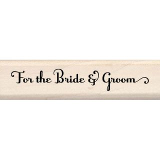Inkadinkado For the Bride and Groom Rubber Stamp