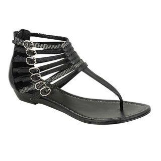 Oceanstar Womens Black Thong Sandals