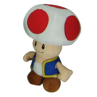 Super Mario Brothers Plush 8 inch Collectible Toy Toad/Cuddle Pillow