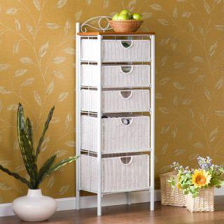 Tuscany Wicker 5 Drawer Storage Rack