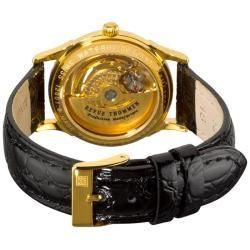 Revue Thommen Womens Open Heart Gold Plated Skeleton Watch
