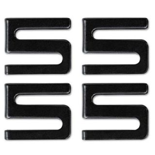 Alera Wire Shelving Black Metal S Hooks (Pack of 4)