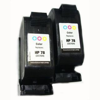 HP 78 Tri color Ink Cartridges (Remanufactured) (Pack of 2