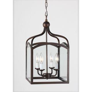 Ashley Antique Copper 4 light Foyer Hanging Lantern