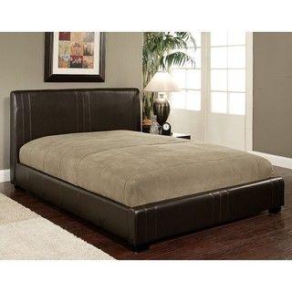 Abbyson Living Malibu Dark Brown Bi cast Leather Queen size Bed