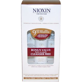 Nioxin System 3 Thinning Hair 3 piece Kit for Chemically Enhanced