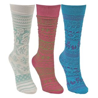 MUK LUKS Kids Microfiber 3 Pair Pack Knee High Socks (One Size Fits