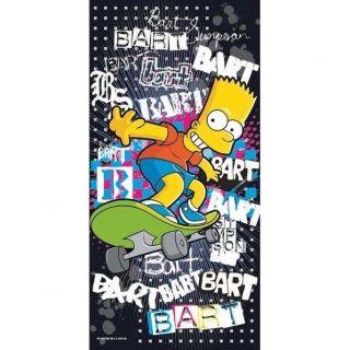SIMPSONS  Serviette de bain Bart Graffiti 76x152cm   Achat / Vente