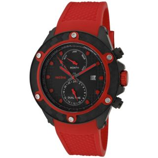 Red Line Mens Carbon Brake Red Silicon Watch
