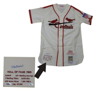 Stan Musial 1944 Autographed Classic Mitchell and Ness Jersey with