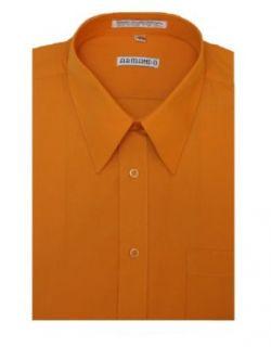 Mens Pumpkin Orange Dress Shirt with Convertible Cuffs