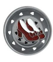 Wizard of OZ dorothys RUBY SLIPPERS shoes Sink STRAINER