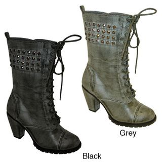 Bucco Odessa Womens Stud embellished Ankle Boots