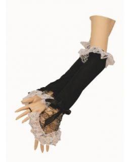 LoveFifi Womens French Maid Gloves, One Size, Black/White