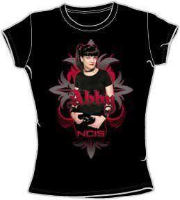 NCIS Abby Gothic Junior Womens T Shirt (Large, Black