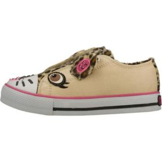 Girls Skechers Twinkle Toes Shuffles Purdy Paws Brown/Natural