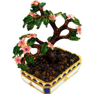 Objet dart Sakura Bonsai Cherry Blossom Tree Trinket Box