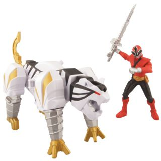 Power Rangers Samurai Tiger Zord and Mega Fire Ranger