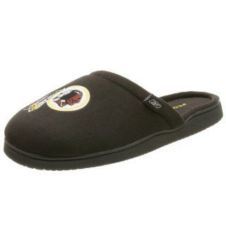 Mens Washington Redskins NFL Slippers,Black/Maroon,Large Shoes