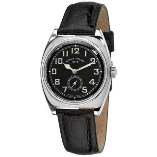Revue Thommen Womens Sport 30s Leather Strap Mechanical Watch