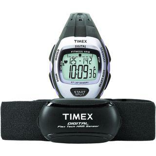 Timex Womens T5K731 Zone Trainer Heart Rate Monitor Black/Silvertone