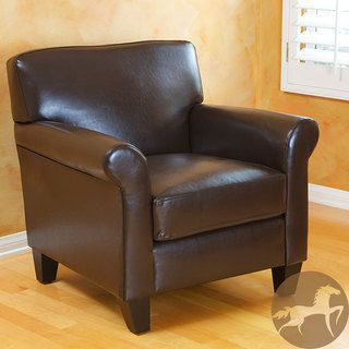 Butler Bonded Leather Brown Club Chair