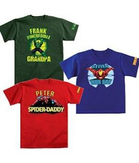 Personalized Marvel Comic Book Hero Character T Shirts
