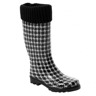 Bamboo by Journee Womens Houndstooth Rain Boots