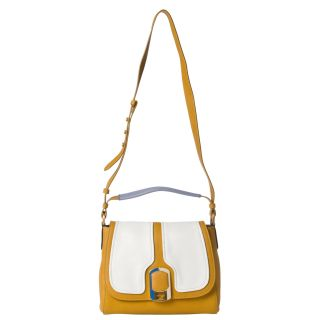 Fendi Anna Color block Leather Shoulder Bag