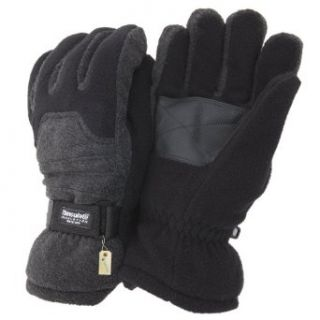 Mens Heavy Ski Thinsulate Thermal Fleece Gloves with Palm