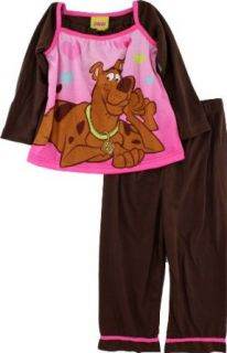 Scooby Doo Scooby Toddler Girls Pink & Brown Pajama Set