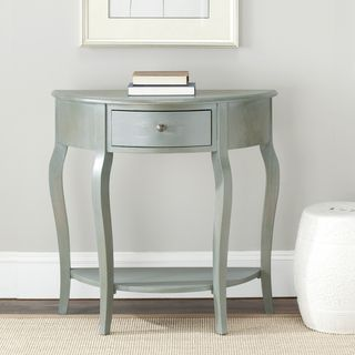 Sete 1 drawer Antiqued Grey Console Table