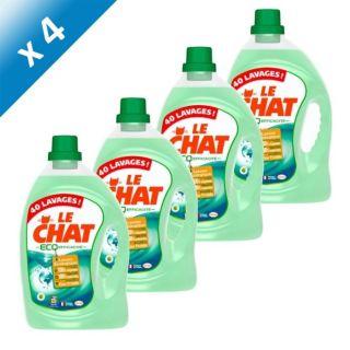 LE CHAT Éco Efficacité 3L x4   Achat / Vente LESSIVE LE CHAT ECO