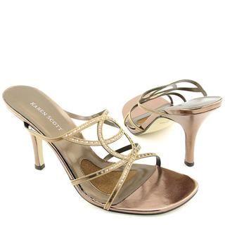 Karen Scott Womens Lila Leather Sandals (Size 8.5)