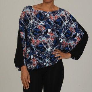 Vivienne Vivienne Tam Womens Deep Dolman Sleeve Sweater