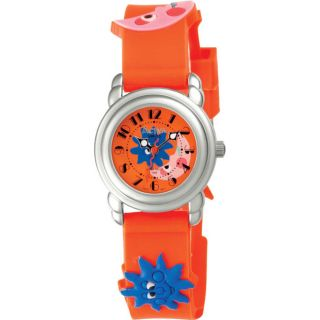 Activa Juniors Orange Cartoon Design Rubber Watch