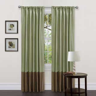 Lush Decor Green/ Brown 84 inch Dawn Curtain Panels (Set of 2