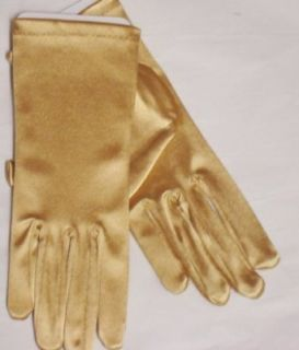 Imported Nine Inch Neon Gold Color Spandex Gloves for