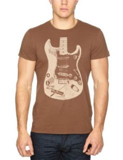 Ben Sherman Mens Rock Graphic Tee,Cocoa Brown,Small