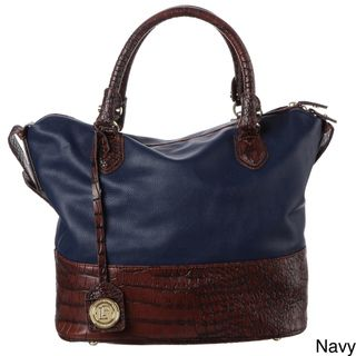 London Fog Norton Alligator inspired Bucket Satchel Bag