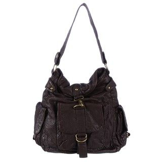 Del Cesca Mansfield Washed Pebble Bucket Hobo Bag