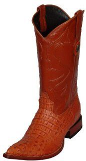 Western Boots Caiman Hornback Crocodile Leather Riding 3066 Shoes