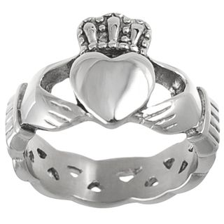 Daxx Stainless Steel Mens Celtic Claddagh Ring