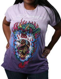Ed Hardy womens plus size Dip Dyed Eagle Dragon shirt
