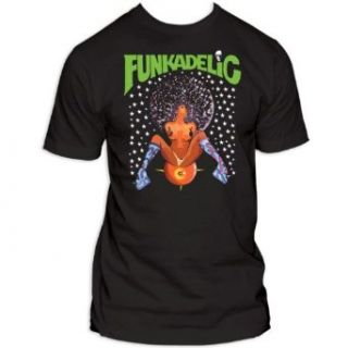 Funkadelic Afro Girl Adult T Shirt, Size Large Clothing