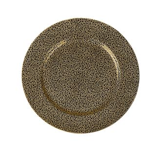 Safari Goldtone Speckled Chargers (Set of 4)
