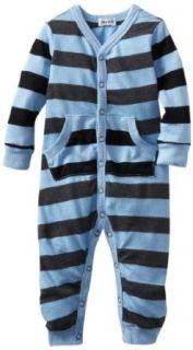 Splendid Littles Baby Boys Newborn Charcoal Rugby Stripe