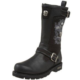 com Harley Davidson Mens Daredevil Engineer Boot,Black,8 M US Shoes