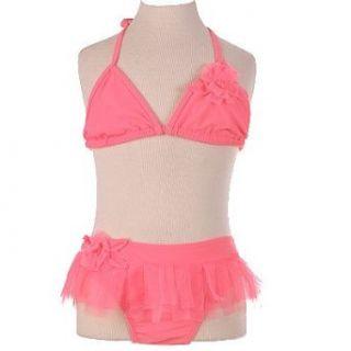 New Little Girls CORAL 2 PC Bikini Swimsuit Girl 16 kate