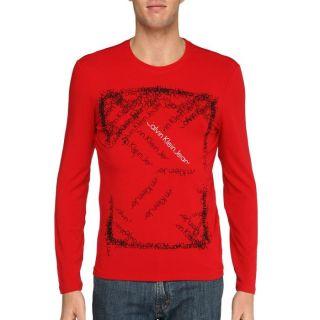 CALVIN KLEIN JEANS T Shirt Homme Rouge Rouge   Achat / Vente T SHIRT